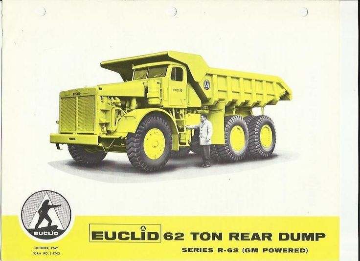 Euclid 62 Ton Rear Dump Series R 62 Gm Powered Truck