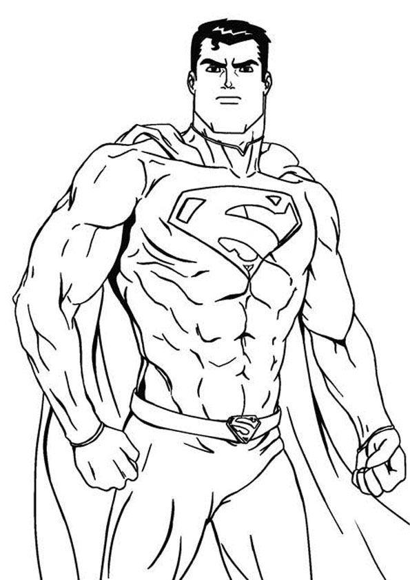 Printable Superman Coloring Page Superman Coloring Pages Batman Coloring Pages Coloring Book Pages
