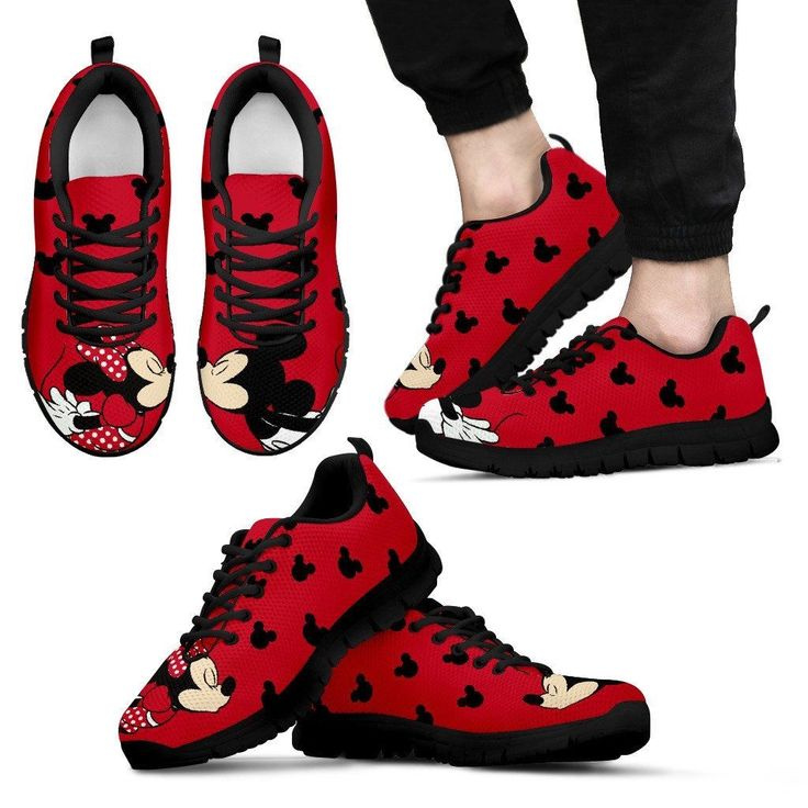 Mickey and Minnie Sneakers -- I really don't know if I'd personally wear these but they are really cute!