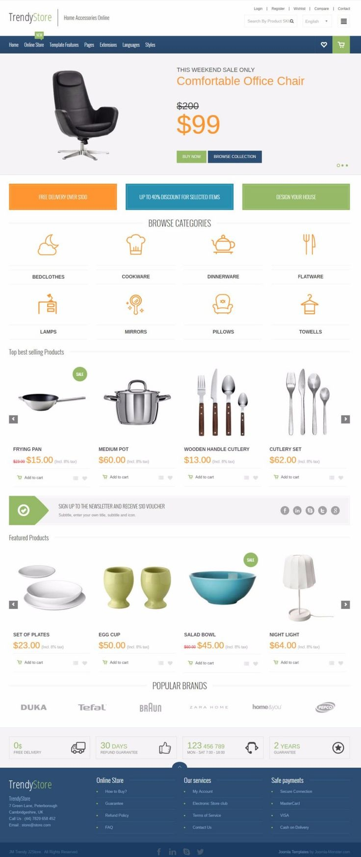 JM Trendy J2Store - template for Joomla 3.x The template is based on EF4 powerful framework. Responsive layout, integrated with Bootstrap + LESS support.  Example for home accessories online store.  Template details: https://www.joomla-monster.com/joomla-templates/i/139-jm-trendy-j2store Demo site: http://demo.joomla-monster.com/248-jm-trendy-j2store