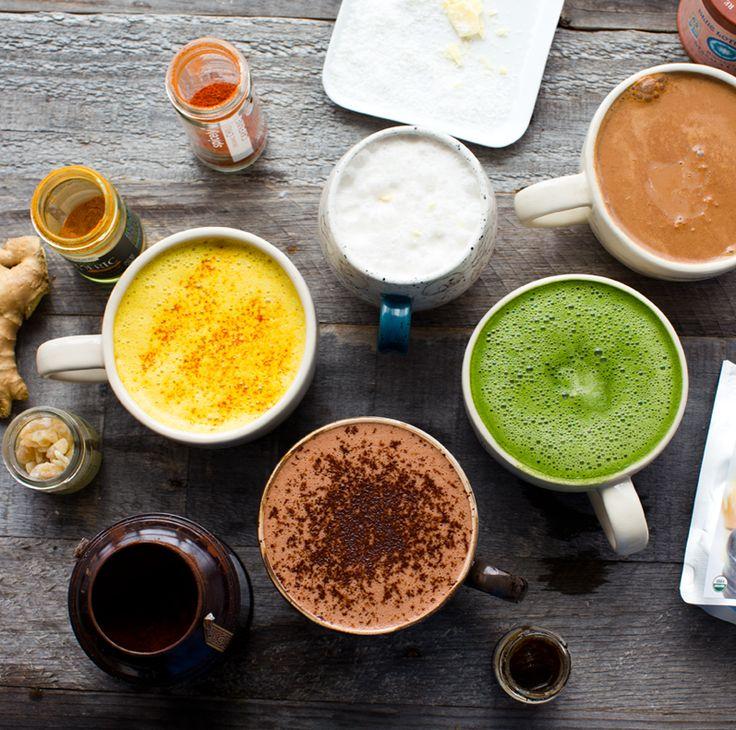 """Don't like coffee? Here are a whole bunch of """"not coffee"""" lattes from Kathy at Healthy Happy Life."""