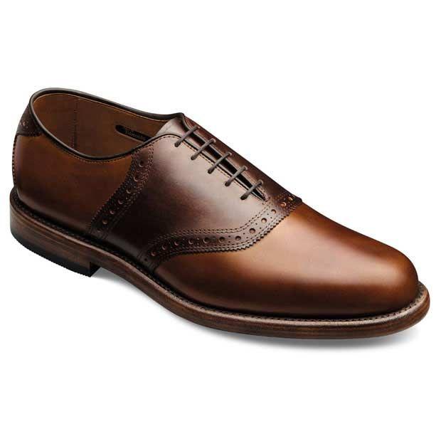 Shelton - Plain-toe Saddle Lace-up Mens Dress Shoes by Allen Edmonds