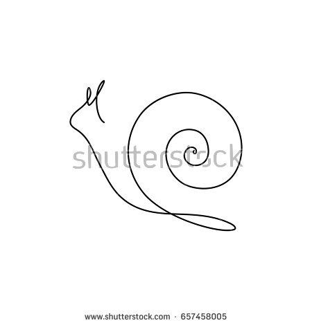 one line drawing snail – Google Search