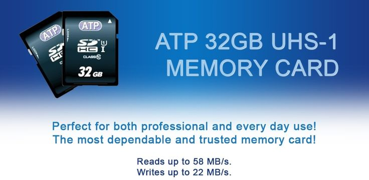 We have you covered for your digital #video and #photography needs... High-performing ATP UHS-1 Class 10 32GB… a #memory card you can depend on and trust! http://mxmexpress.com/product.php?id_product=118