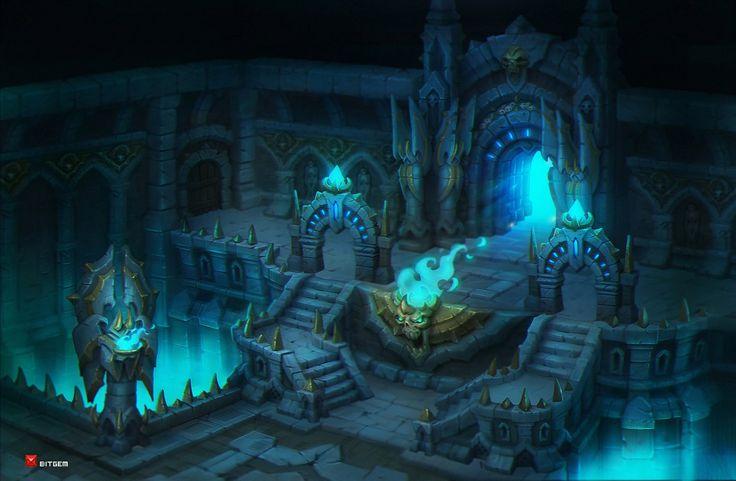 Dungeon 2, Dmitriy Barbashin on ArtStation at https://www.artstation.com/artwork/dungeon-2-4483c2db-4d1b-4c30-8695-d0ed903e6e54