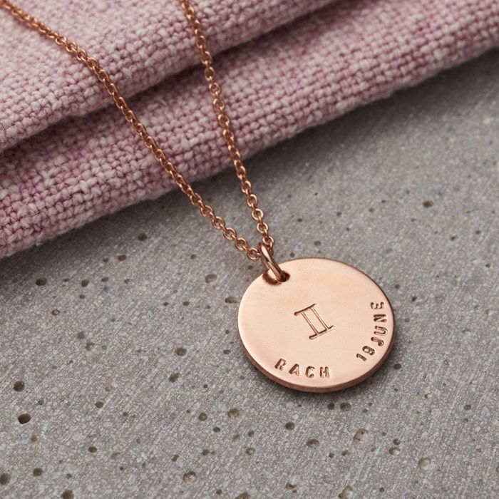 Personalised Posh Totty Designs Large Zodiac Necklace | GettingPersonal.co.uk