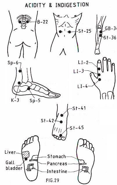 Acupressure points ~