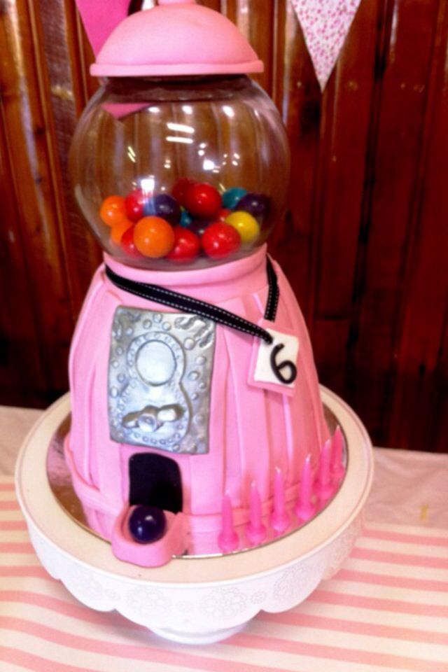 Ava's 6th Birthday Gumball Machine Cake- By Nat and Jess