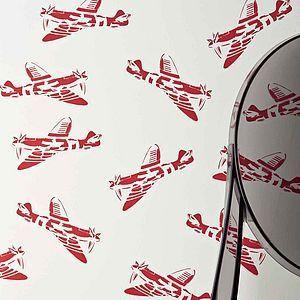 'Spitfires' Aeroplane Wallpaper - gifts under £100