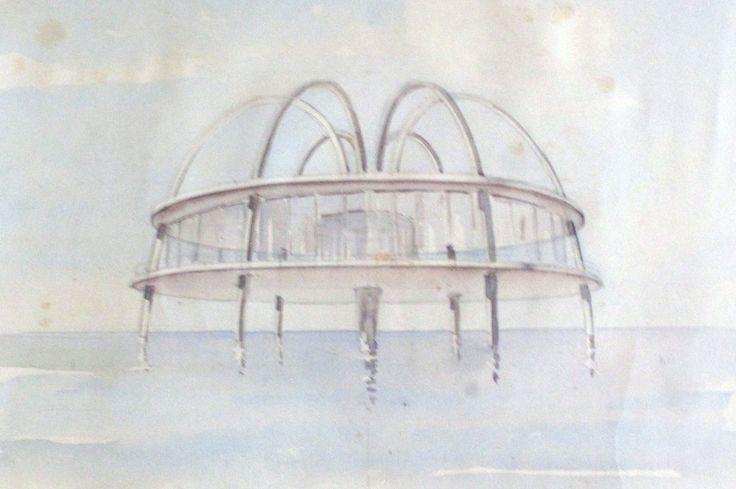 1935 GENOVA (GE)PROGETTO PER IL RISTORANTE CAPURRO ALLA FOCE,by ROBALDO MOROZZO DELLA ROCCA,( Visioni per Genova. Progetti di grandi architetti Palazzo Ducale Sala Munizioniere 2016 )