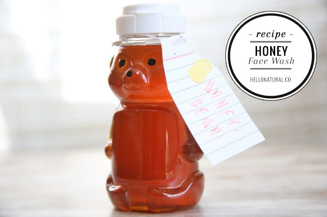 Mix up three ingredients, and you've got a homemade honey face wash that's great for soothing and clearing up skin.