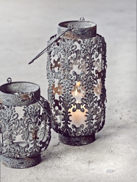 floral cut out candle holders