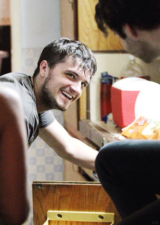 Josh Hutcherson on the set of The Rusted 7/23/15