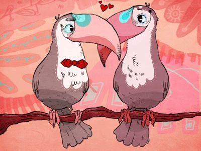Valentines toucans