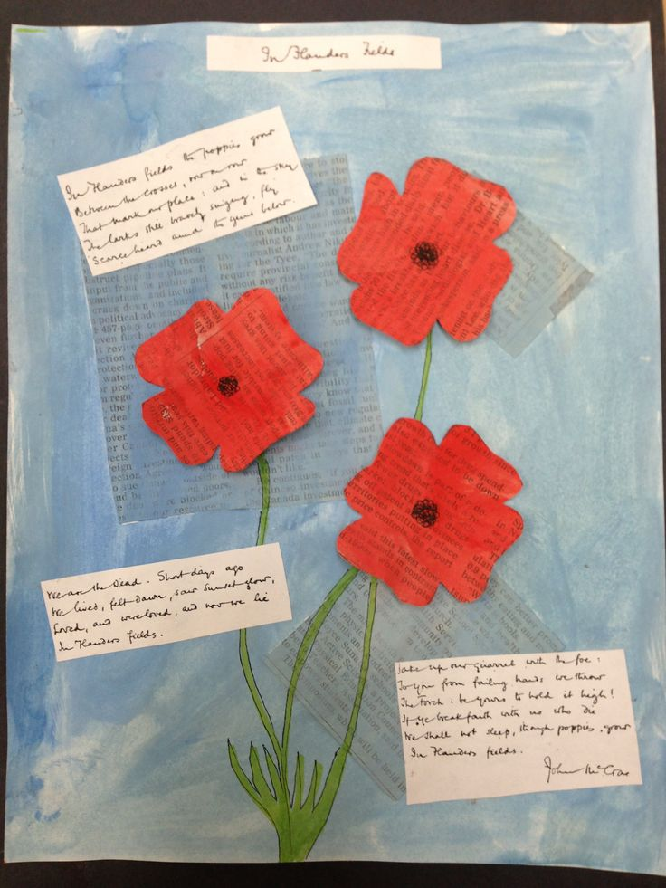 Remembrance Day art. Made these over two art periods with my ones and twos.