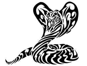 Large Tribal Cobra Snake Tattoo  Tabatha