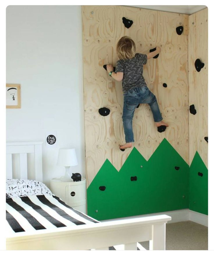 I Think This Would Be So Fun In Any Kids Room DIY Climbing Wall For An  Outdoors Themed Bedroom « Growing Spaces
