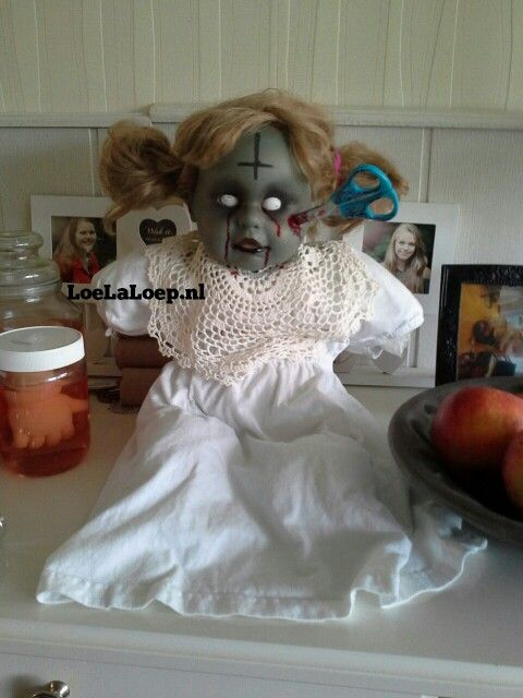 Halloween zombie doll #horror #diy #creepy #theme #party