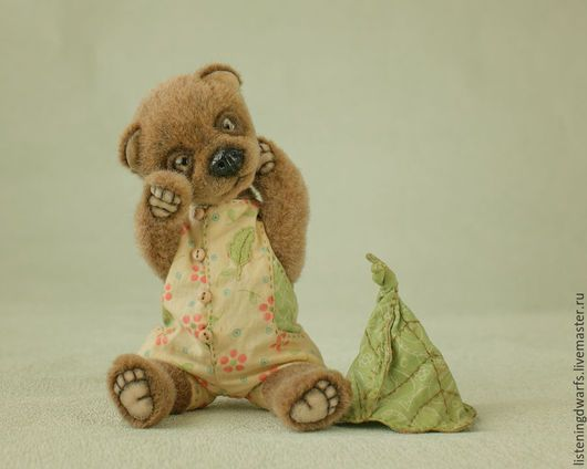 Teddy Bears handmade. Teddy bear Alvin, designer toy, plush. Aleksandra Kulikova (listeningdwarfs). Online shopping on My Livemaster. #teddy #bear #teddybear #handmade #artdoll #ooakteddy #toy #bunny #teddybunny #rabbit #teddyrabbit #motherday