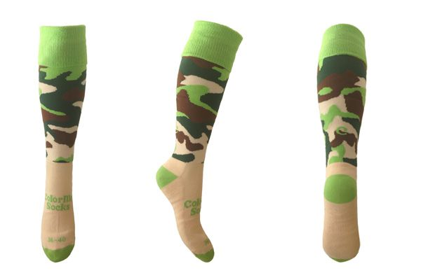 Hockeysokken, Voetbalsokken Green Bush by ColorMeSocks™