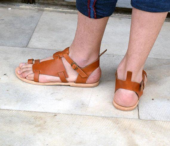 Men leather sandals/ Gift for him