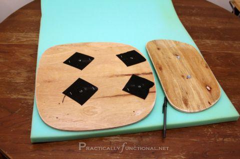 DIY Makeover Silla de escritorio: espuma de medición