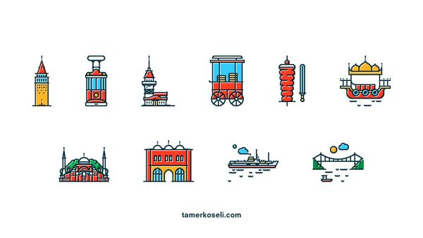 Icons of Istanbul by Tamer Koseliturkey
