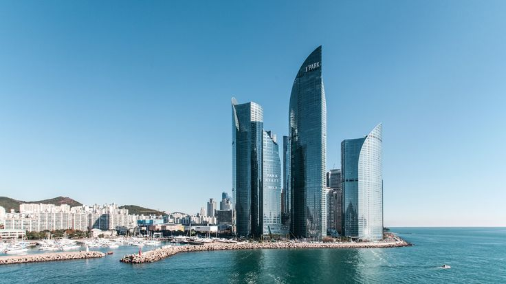 SOUTH KOREA – Marine City area, Haeundae district, Busan. The tallest building in this picture is the Park Hyatt Busan hotel located at 51 Marine City 1-ro. https://www.google.ca/maps/place/Park+Hyatt+Busan/@35.1607875,129.1329148,15z/data=!4m5!3m4!1s0x356892afa1951005:0x9a03dca49a5366e5!8m2!3d35.156788!4d129.142031