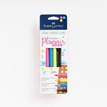 Get everything you need to organize in style in one place. Set includes 3 highlighter pencils, a pitt artist pen, and two stencils.