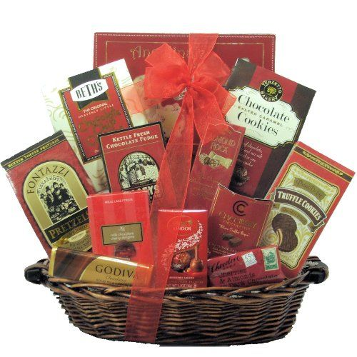 GreatArrivals Gift Baskets Anniversary Gift Basket, Sweet Romance, 4 Pound