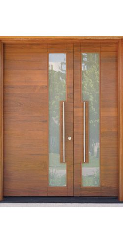 Doorland Group Portfolio Subcategory Overview Factory Finish Custom Residential Exterior Side in Solid Teak
