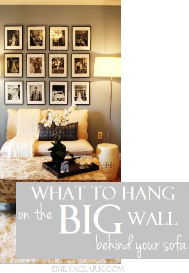 Design Dilemma: What To Hang On The Big Wall Behind Your Sofa