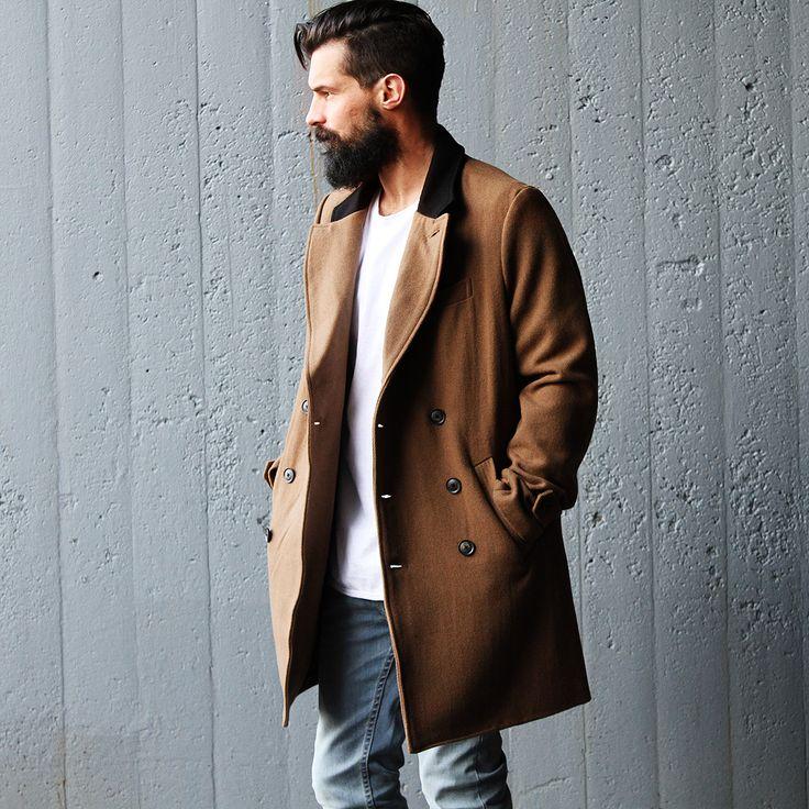 Autonomy Clothing   Melbourne menswear Fashion   Mens Coats W15  Caramel coats  Mens street style Australian Fashion