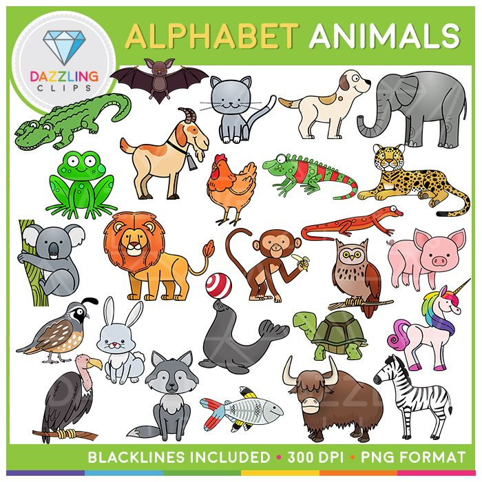 Alphabet Animals Animal Alphabet Alphabet Clipart Clip Art