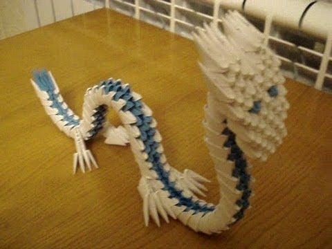 3D Origami Chinese Dragon Tutorial  For a tutorial request leave a comment