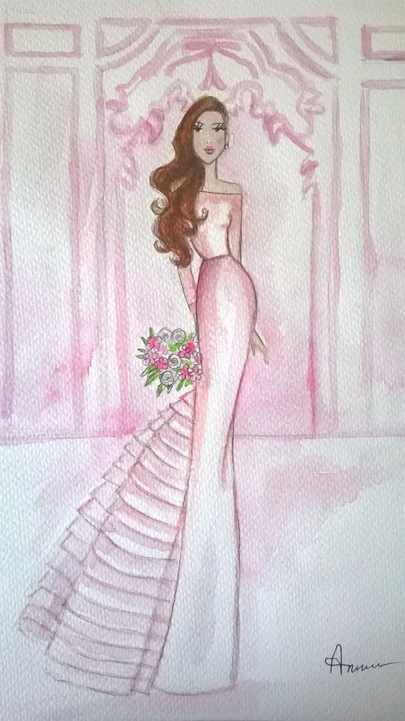 Custom Fashion Illustration with by annafuiillustrations on Etsy