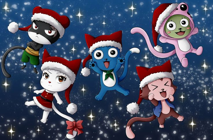 Anime Fairy Tail Happy (Fairy Tail) Charles (Fairy Tail) Lector (Fairy Tail) Frosch (Fairy Tail) Panther Lily (Fairy Tail) Fond d'écran