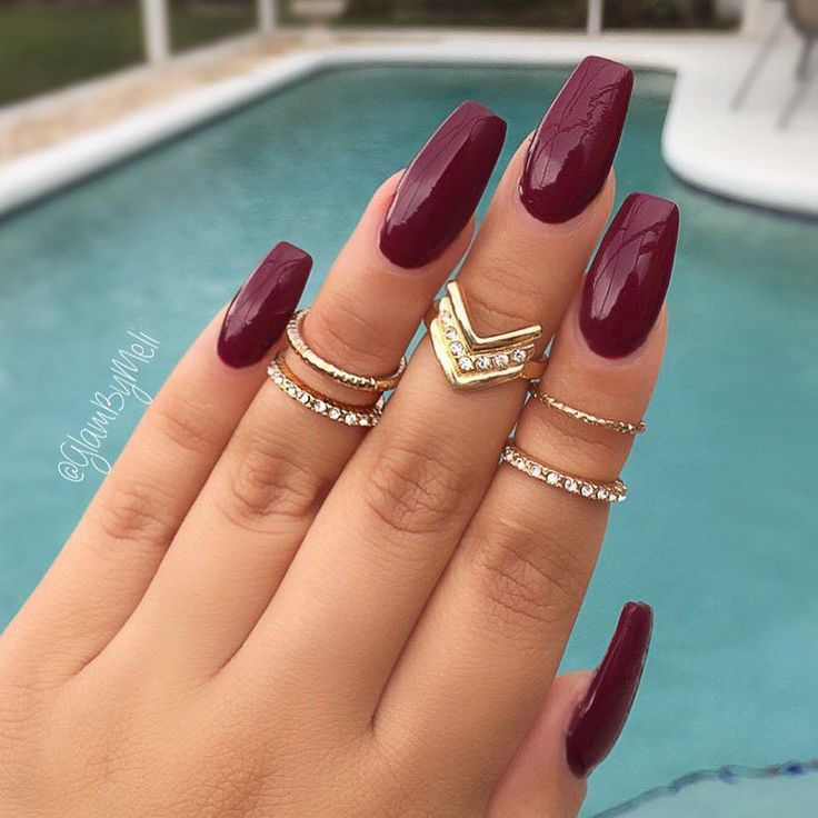 Burgundy nails✨|| To see more follow @Kiki&Slim