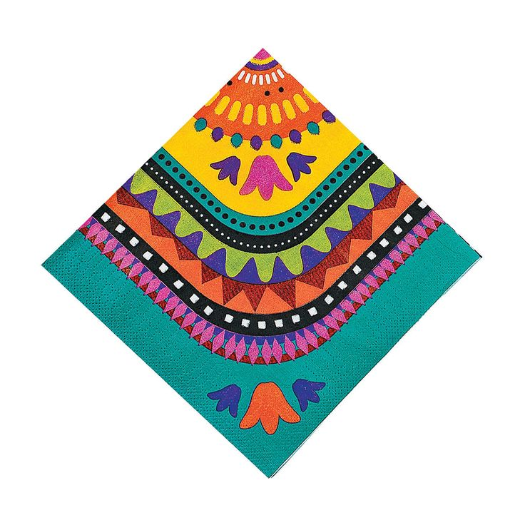 Love the design & Color Fiesta Luncheon Napkins - OrientalTrading.com