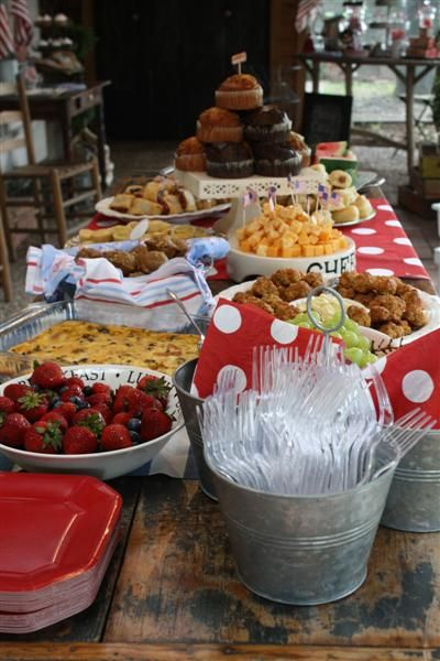 Yummy Party Food Idea - love the set up and inclusion of fruit and cheese