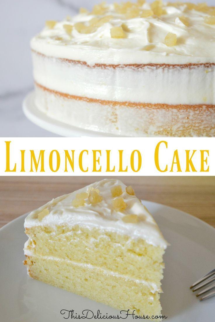 Limoncello Ricotta Cake With Limoncello Cream Cheese Frosting