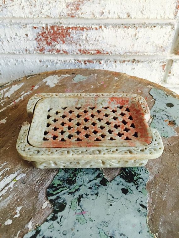 PORTE-savon en marbre {Artisan fait belle pierre naturelle sculpté à la main}
