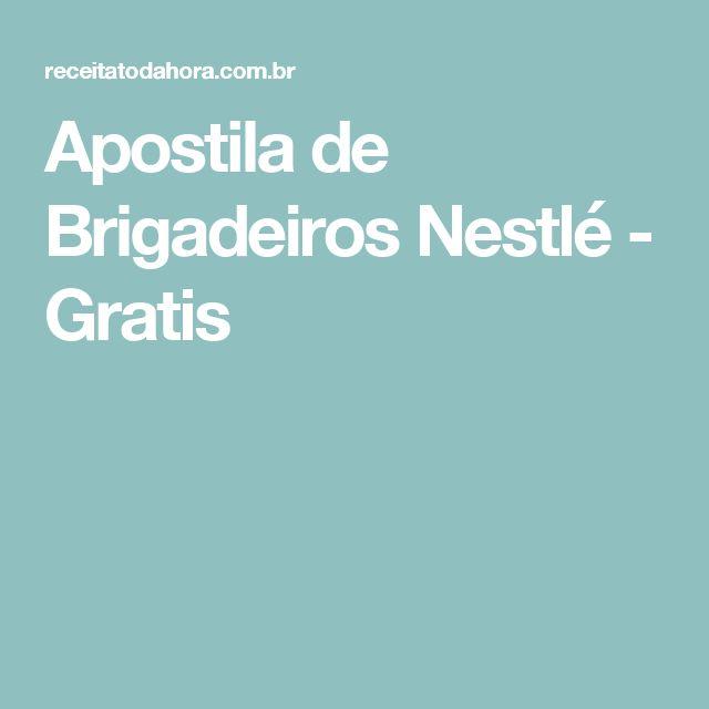 Apostila de Brigadeiros Nestlé - Gratis
