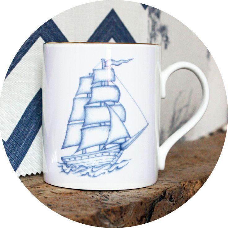Ship Mug from Natural History - the  Modern Nauticals collection  http://natural-history.myshopify.com/products/ship-mug