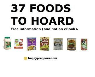 FREE FAMILY SURVIVAL SYSTEM: What are the 37 essential food items guaranteed to disappear in two hours? Here's the totally free emergency preparedness list of 37 vital food items -- your free guide, which answers this question: http://www.happypreppers.com/37-food-storage.html
