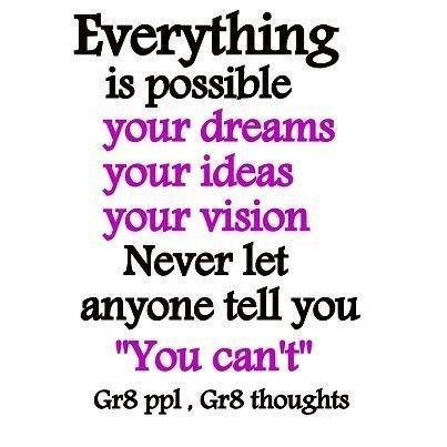 Inspiring quotes everything is possible your ideas