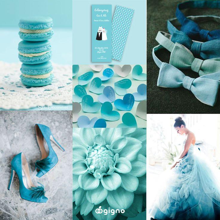Keyifli, etkileyici, canlı düğün fikirleri... Bu hafta ilham kaynağımız deniz mavisi // scuba blue.