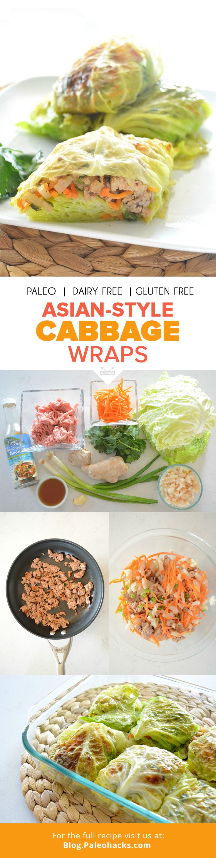 Asian-Style Cabbage Wraps   #justeatrealfood #paleohacks