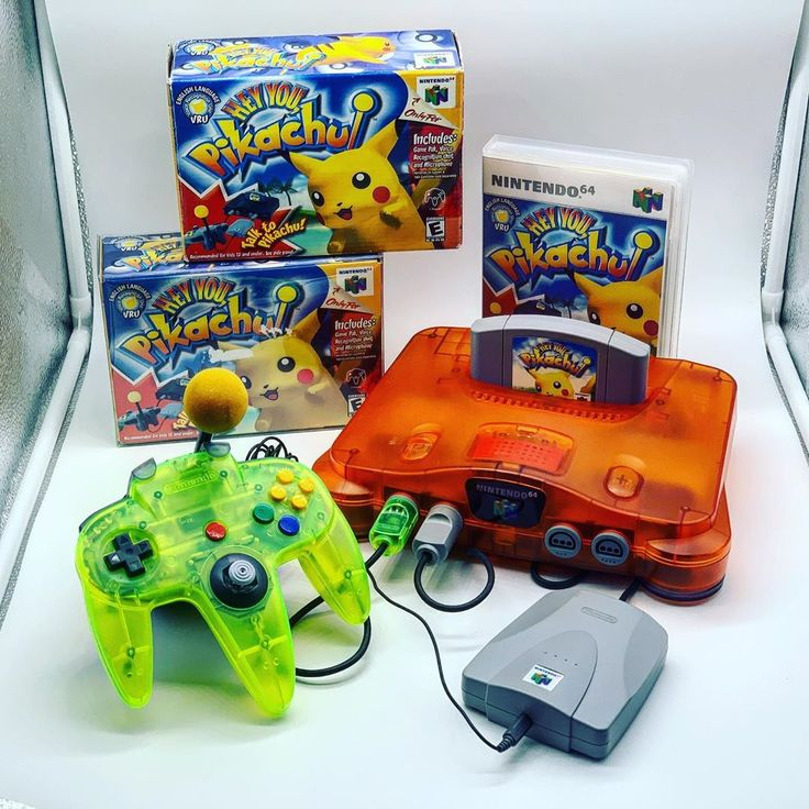 N64guy Shared A Photo On Instagram Here S A Better Photo Of Hey You Pikachu Video Game Room Design Retro Video Games Pokemon Games