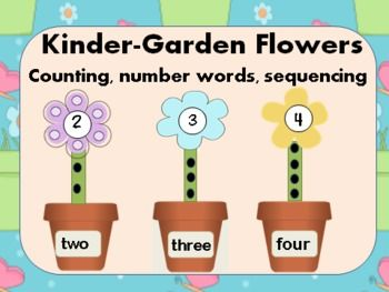 Students will create this adorable Kinder-Garden as they count, read number words and sequence the flower pots in order. This makes a terrific math center activity which is perfect for the spring. You will also receive a recording sheet to go along with this activity.Enjoy!!! #math  #number sense